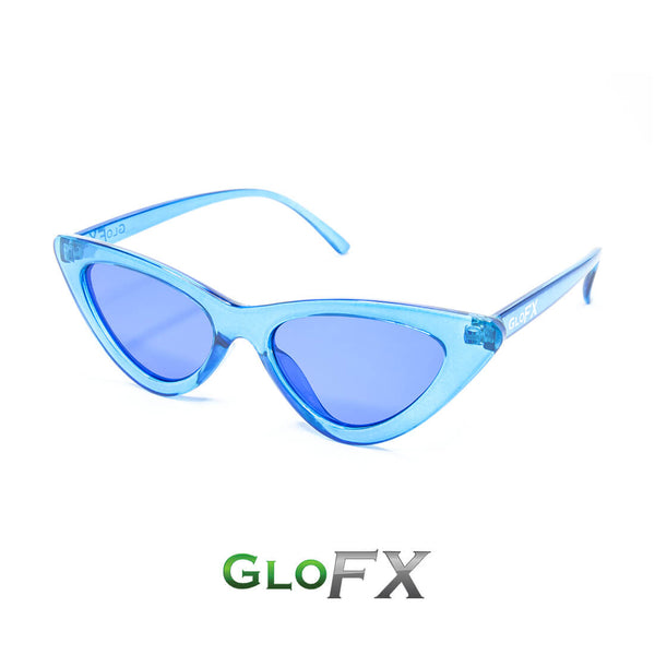 GloFX Cat Eye Colour Therapy Glasses - Blue