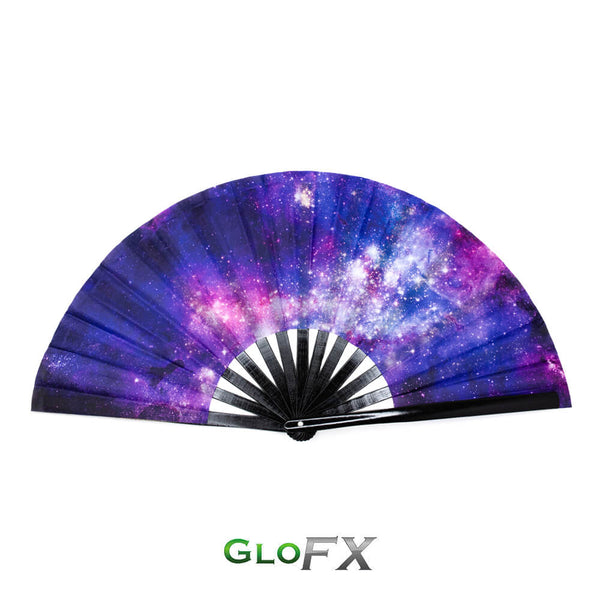 GloFX Festival Folding Fan - Galaxy