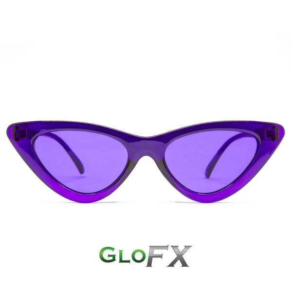 GloFX Cat Eye Colour Therapy Glasses - Violet