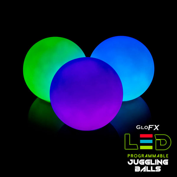 GloFX Programmable LED 78mm Professional Juggling Balls