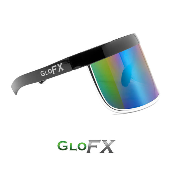 GloFX Galactic Invader Diffraction Visor – Rainbow Gradient