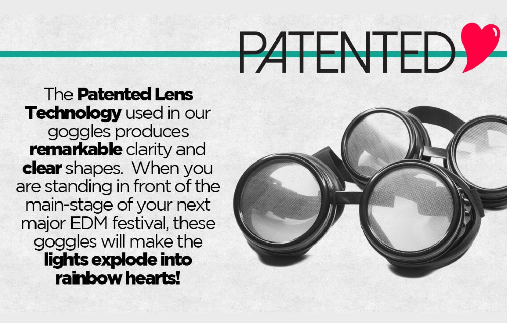 heart diffraction goggles feature