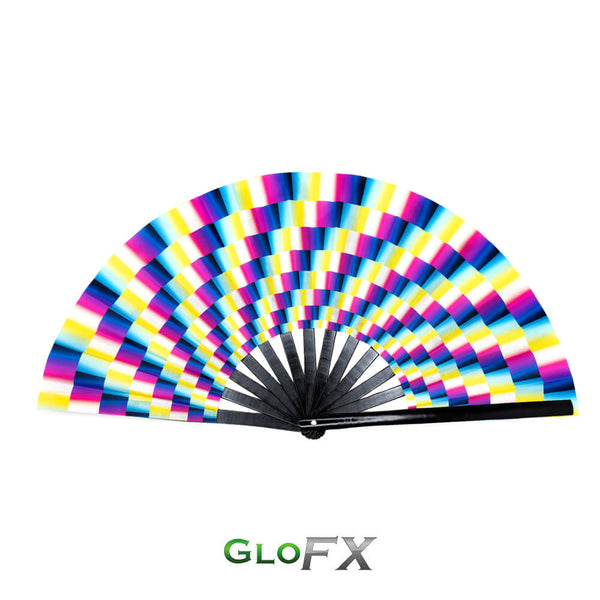GloFX Festival Folding Fan - Trippy