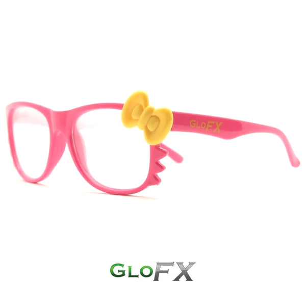 GloFX Kitty Diffraction Glasses - Pink
