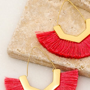 Fan Shape Tassel Earring