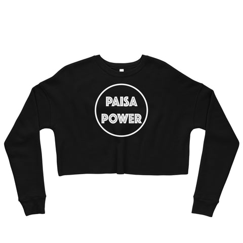 Paisa Power Crop Sweatshirt
