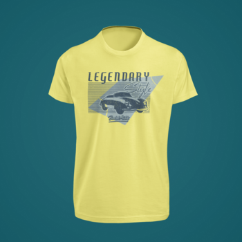 Beard Motors 356 LEGENDARY Style T-Shirt yellow - beardmotors