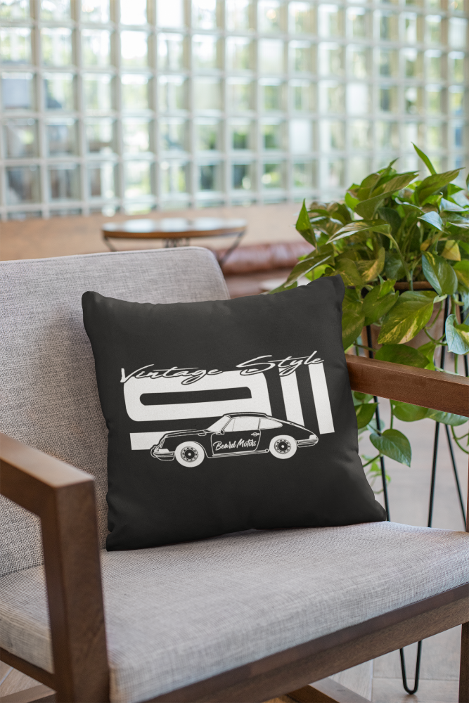 Beard Motors 911 Porsche pillow coussin Vintage Style - Beard Motors