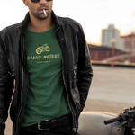 Beard Motors Motorcycle Custom bike Harley BSA Triumph brat bobber t shirt  - Beard Motors