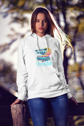 Beard Motors Hoodie 80s Best Hit T3 white - beardmotors