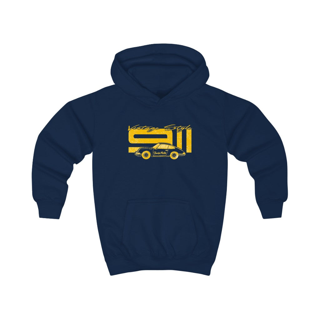 Beard Motors Kids Hoodie ENFANT 911 Vintage Style navy - beardmotors