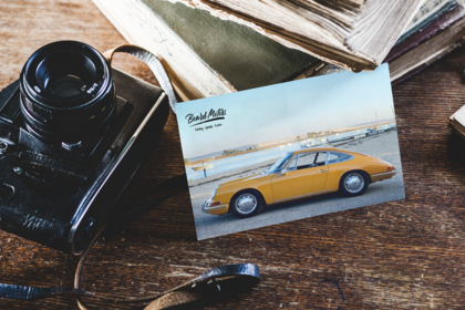 Beard Motors Classic Porsche on the Beach carte Postale Standard Postcard - beardmotors