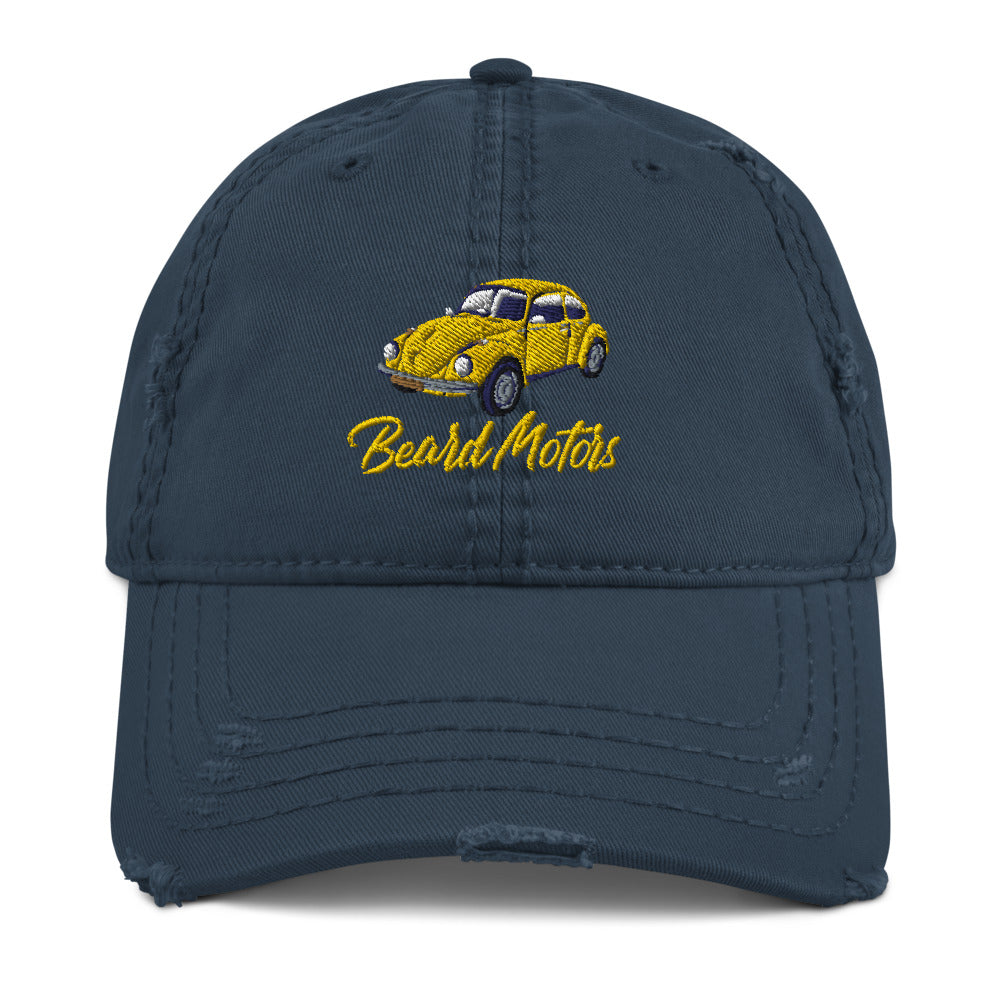 Beard Motors Beetle Distressed Dad Hat casquette effet usé - Beard Motors