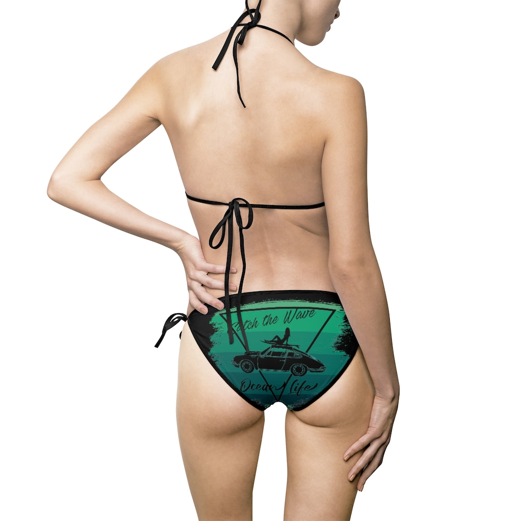 Beard Motors Bikini Swimsuit 911 Surf Catch the Wave Green - beardmotors