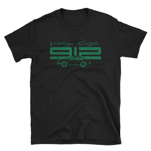 T-Shirt Vintage Style 912 Irish Green / Black - Beard Motors