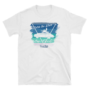 T-Shirt Catch the Wave 911 Surf Shades of Blue / White - beardmotors