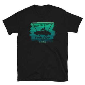 T-Shirt Catch the Wave 911 Surf Shades of Green / Black - beardmotors
