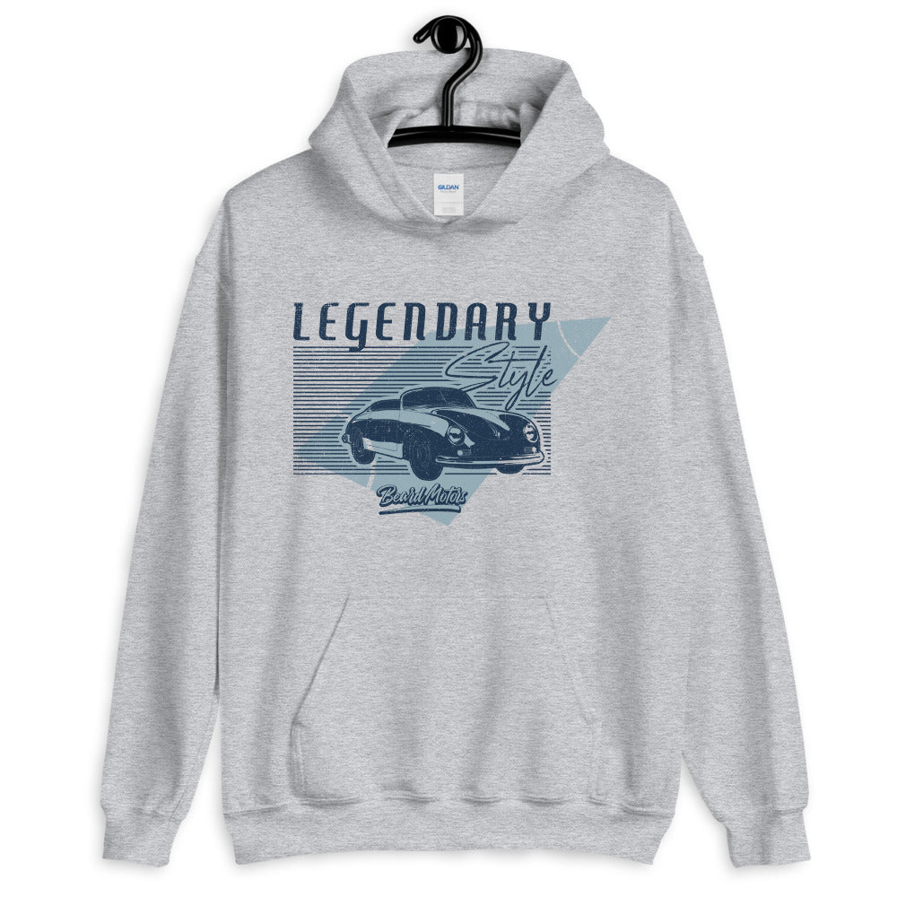 Beard Motors 356 LEGENDARY Style Hoodie grey - beardmotors
