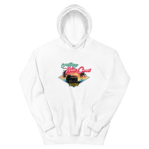 Beard Motors West Coast Surf Bus Hoodie White - beardmotors
