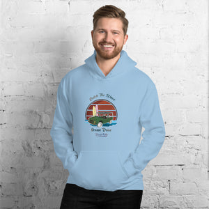 Beard Motors Catch the Wave Mehari Ocean Drive Hoodie Light Blue - Beard Motors