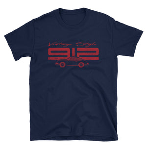 T-Shirt Vintage Style 912 Polo Red / Marine - beardmotors