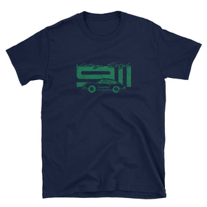 T-Shirt Vintage Style 911 Irish Green / Marine - beardmotors