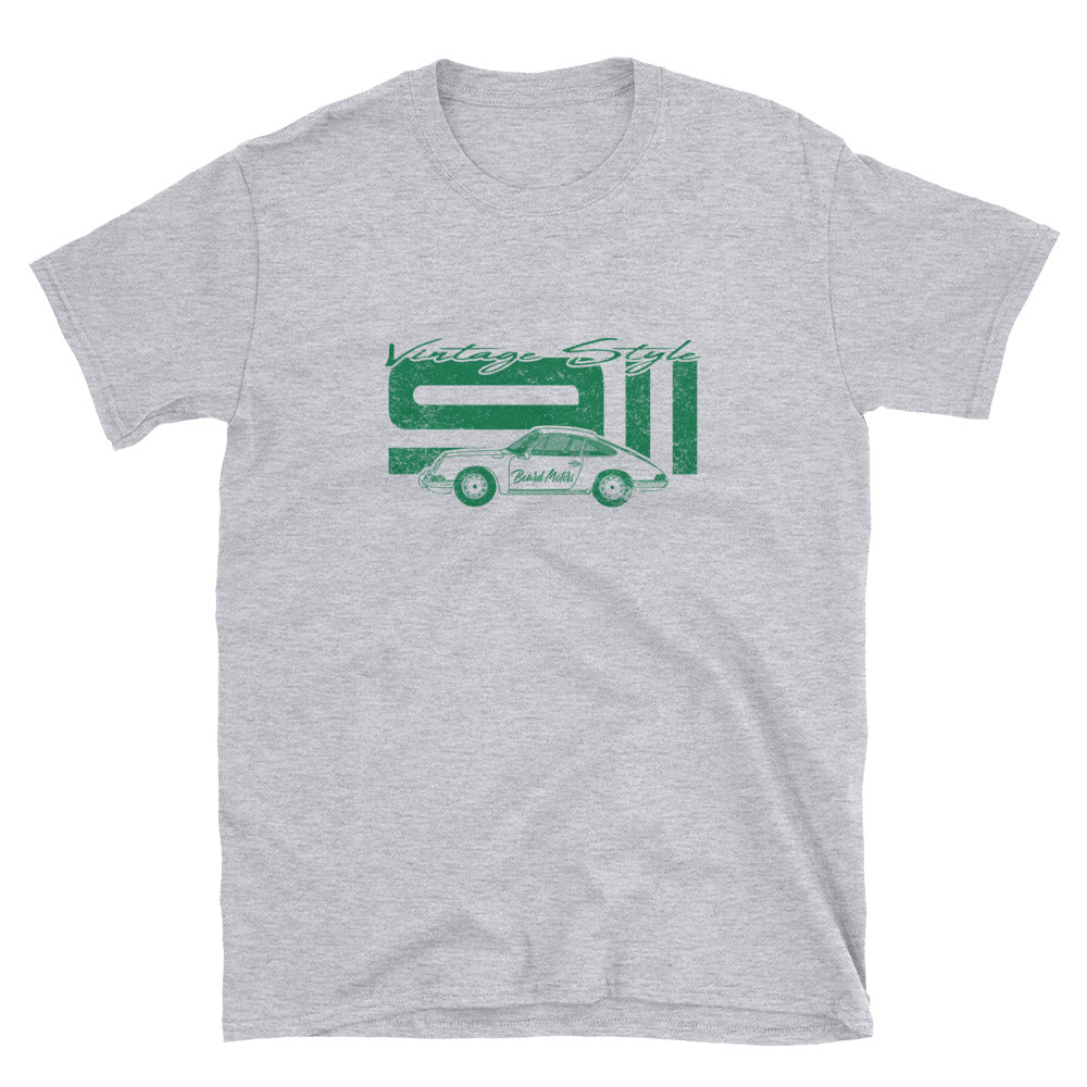 T-Shirt Vintage Style 911 Irish Green / Grey - Beard Motors