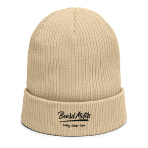 Beard Motors Organic ribbed Beanie Bonnet Logo Grunge - Beard Motors