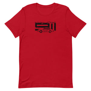 Beard Motors 911 Vintage Style T-Shirt Red - beardmotors
