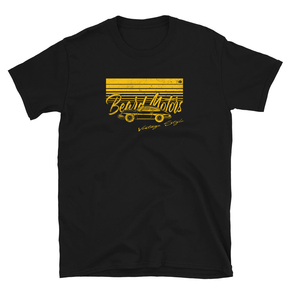 T-Shirt Wave 911 912 Classic Bahama Yellow / Black - beardmotors