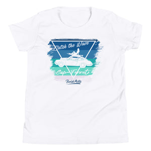 T-shirt enfant White Youth shirt Catch the Wave Blue to Green 911 Surf - beardmotors