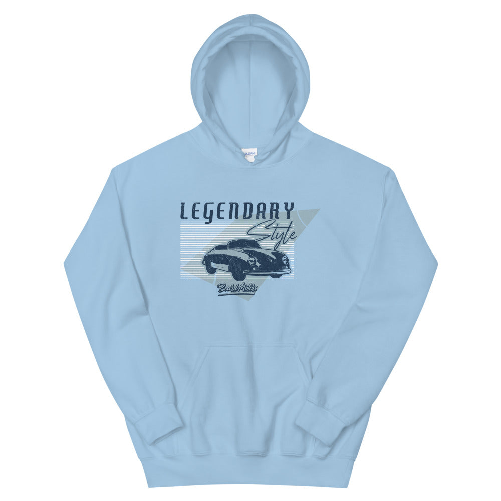 Beard Motors 356 LEGENDARY Style Hoodie light blue - beardmotors