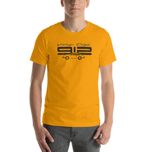 Beard Motors 912 Vintage Style T-Shirt Gold - beardmotors