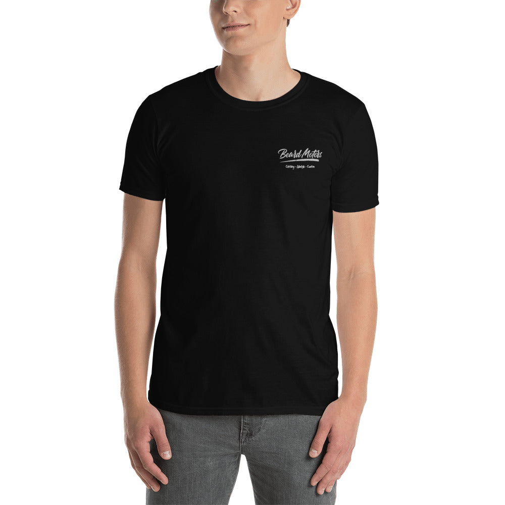 Beard Motors black T-Shirt Logo Grunge embroided - beardmotors