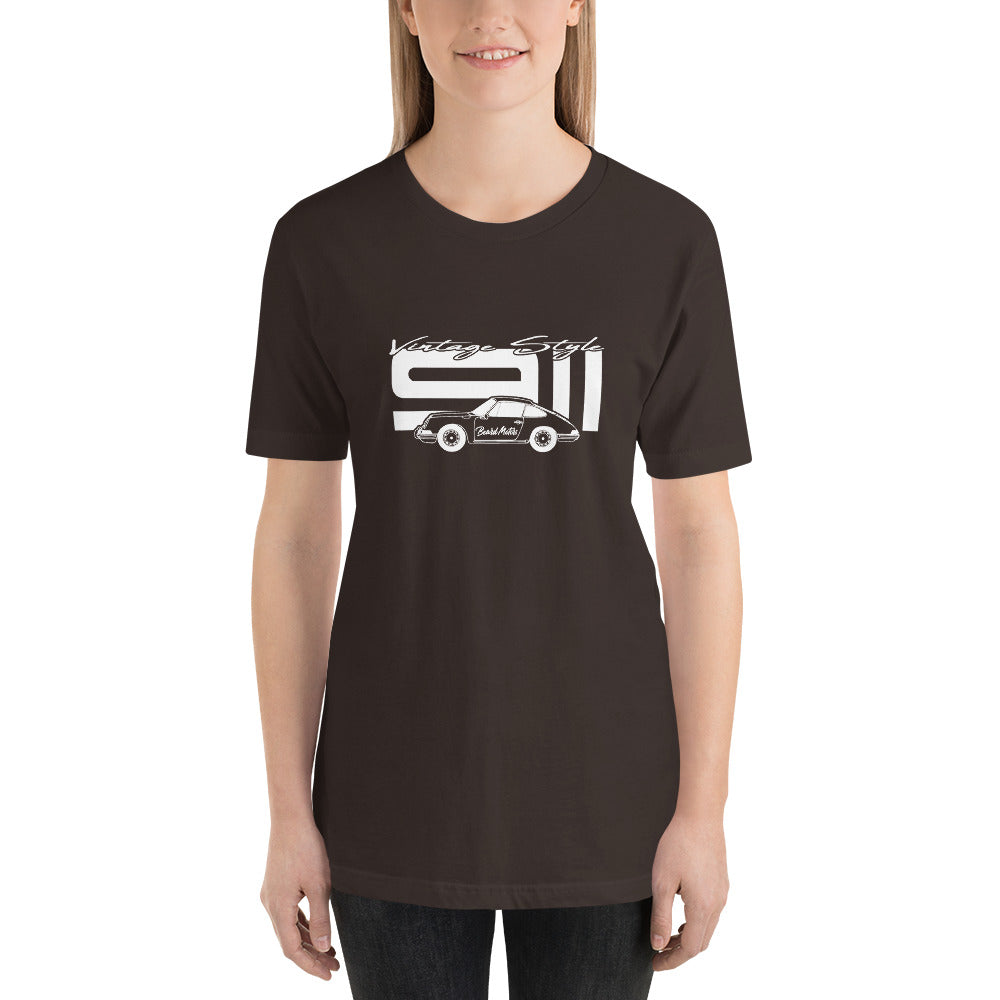 Beard Motors T-Shirt 911 Vintage Style Bordeau marroon - beardmotors