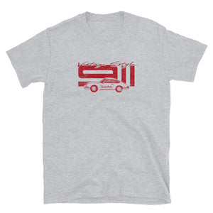 T-Shirt Vintage Style 911 Polo Red / Grey - Beard Motors