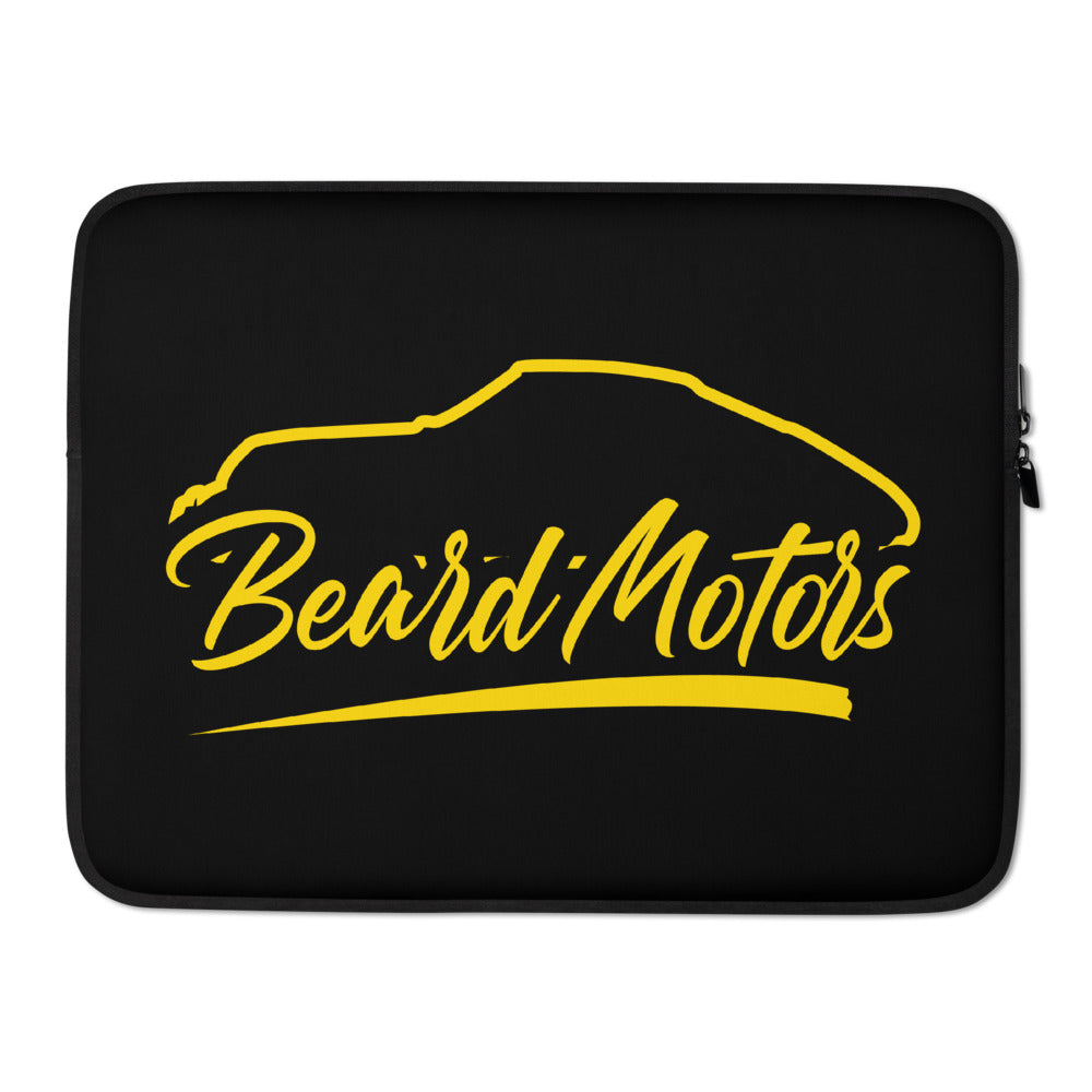 Beard Motors Laptop Sleeve Logo 911 sihouette - beardmotors