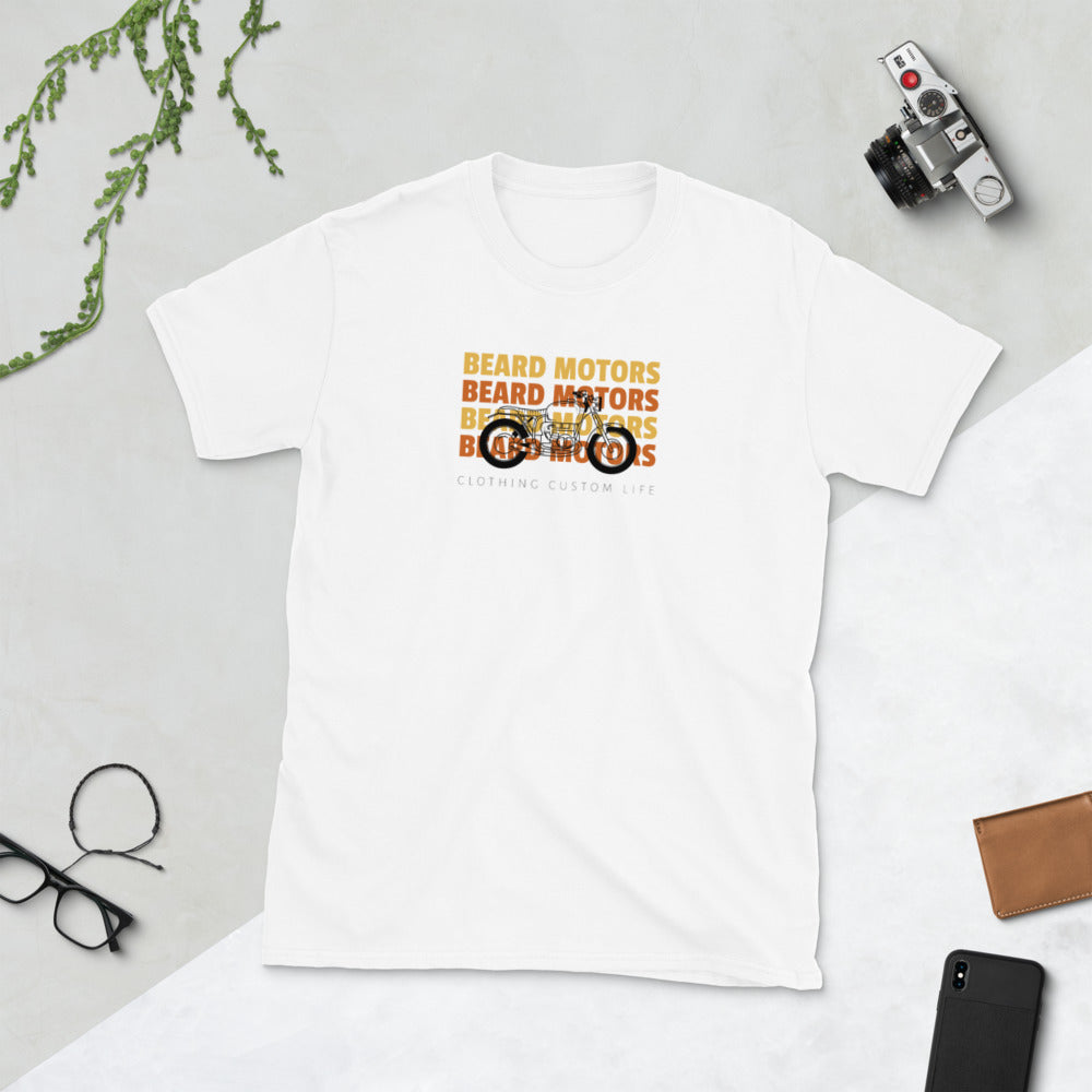 Beard Motors Motorcycle Custom T-Shirt white - Beard Motors