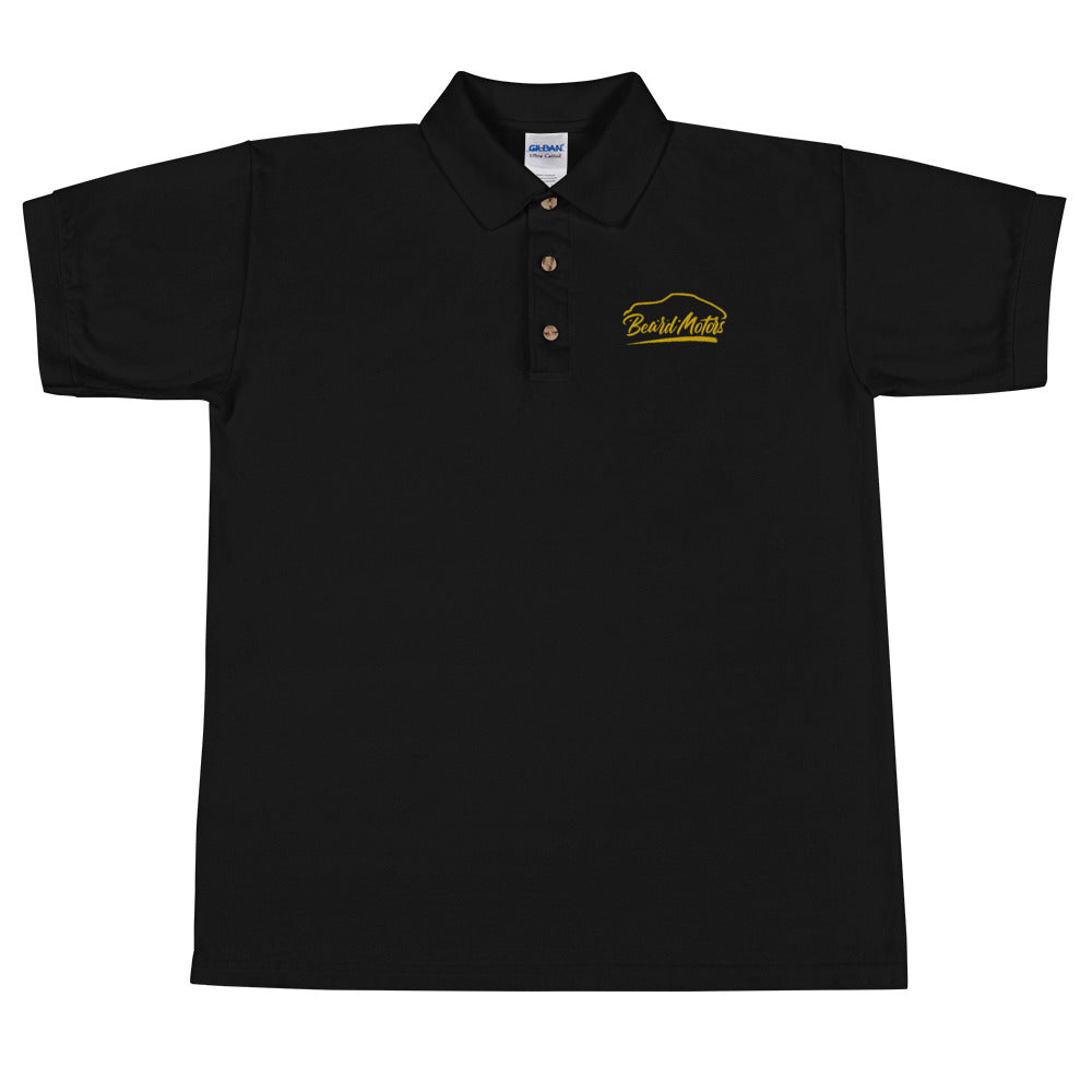 Beard Motors Logo 911 Silhouette Embroidered Polo Shirt brodé - beardmotors