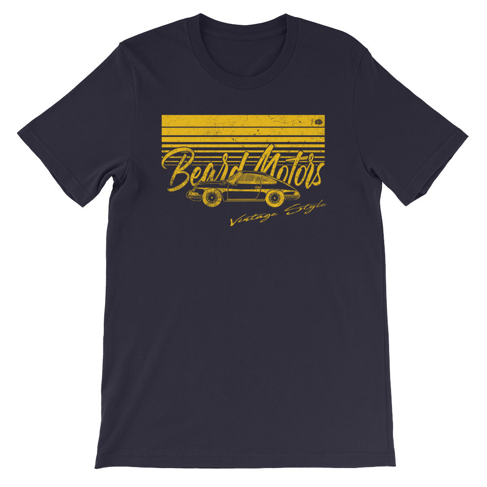 T-Shirt Wave 911 912 Classic Bahama Yellow / Bleu - beardmotors