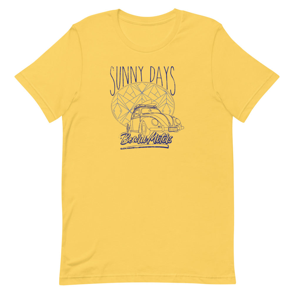 Beard Motors Sunny Days Beetle T-Shirt Yellow - beardmotors
