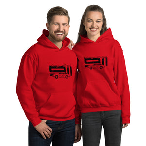 Beard Motors 911 Vintage Style Hoodie Red - Beard Motors