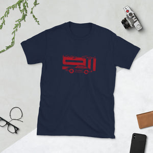 T-Shirt Vintage Style 911 Polo Red / Marine - Beard Motors