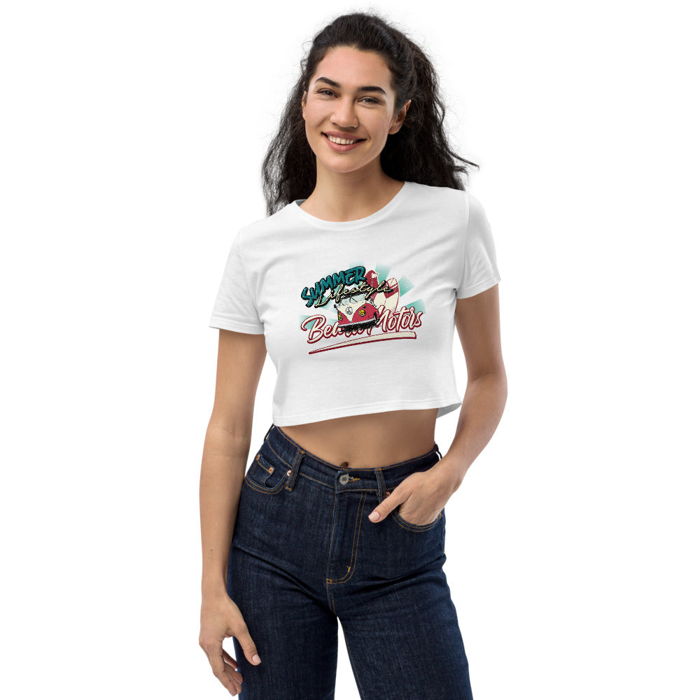 Beard Motors Summer Lifestyle Van Life Surf Organic Crop Top - Beard Motors