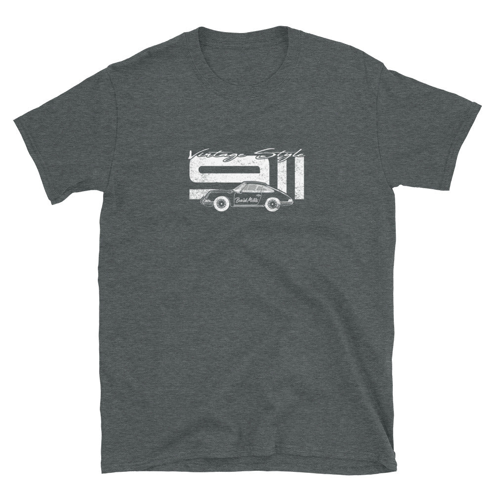 Beard Motors 911 Vintage Style T-Shirt Dark Grey - Beard Motors