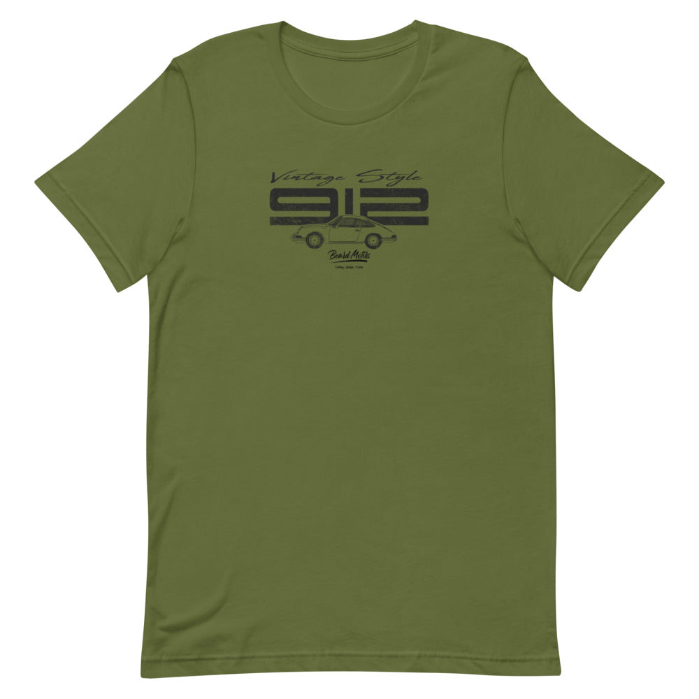 Beard Motors 912 Vintage Style T-Shirt Olive - Beard Motors