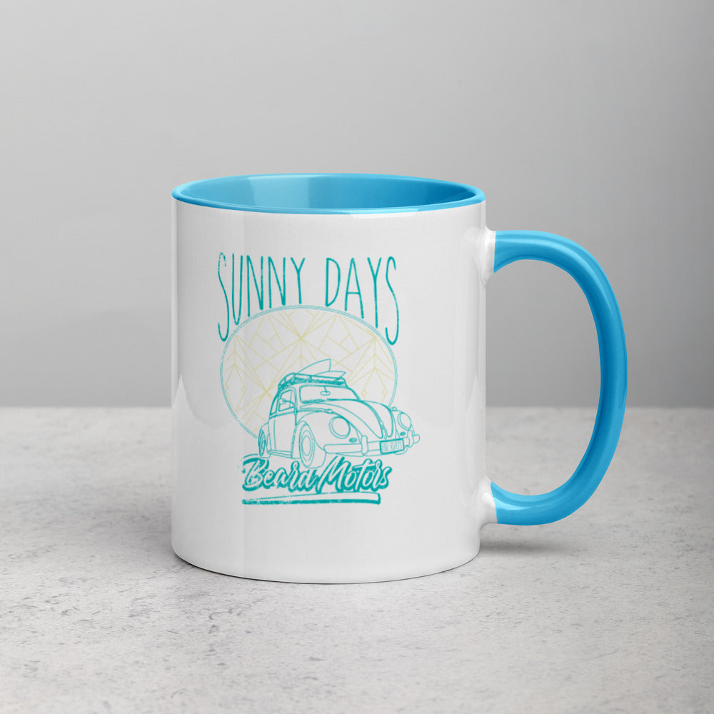 Beard Motors Sunny Days Beetle Mug with Color Inside - Beard Motors