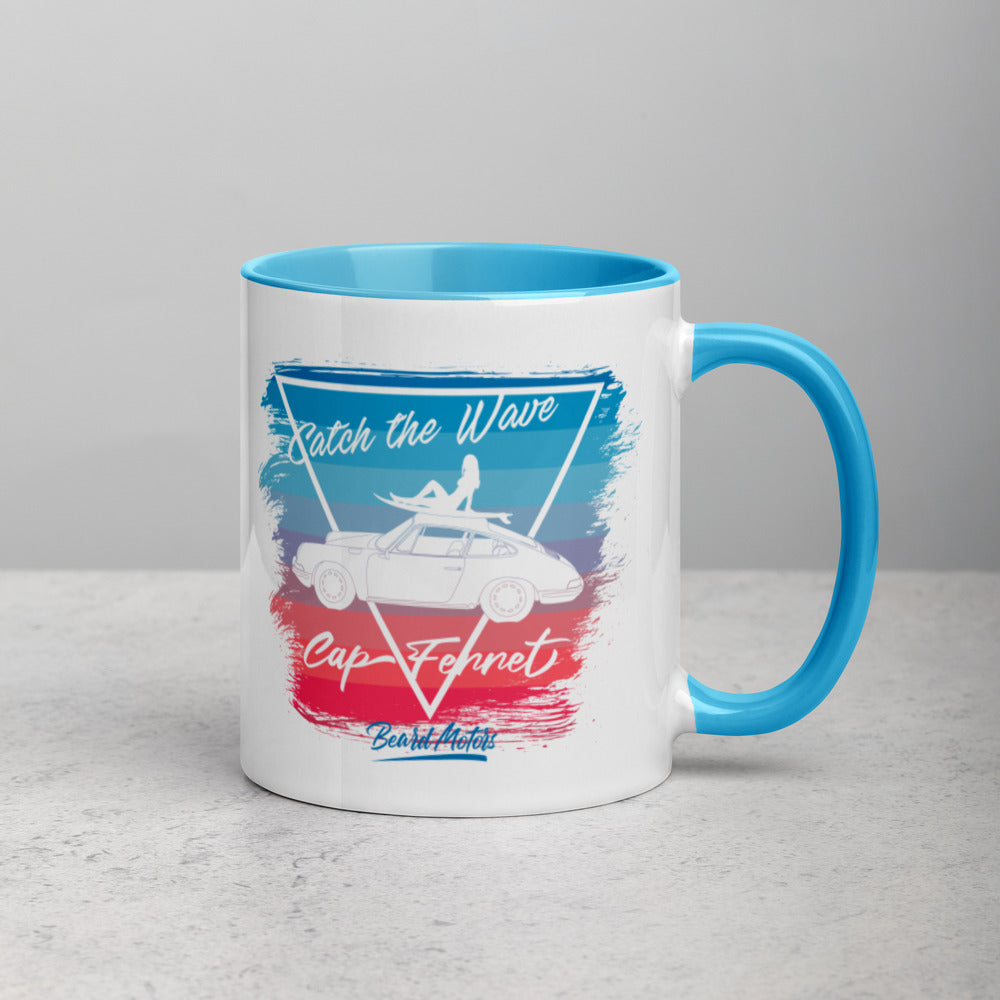 Beard Motors 911 Surf Catch the Wave Blue Mug with Color Inside - Beard Motors