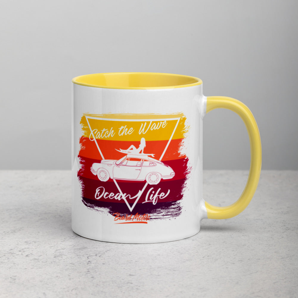 Beard Motors 911 Surf Catch the Wave Bahama Mug with Color Inside - Beard Motors
