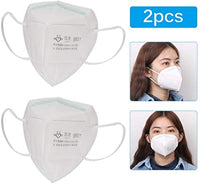 2 PCS KN 95 Face Mask Protective Covers Mouth & Nose FAST Shipping USA Seller - Liberty Beauty Supply